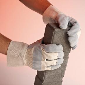 rękawice skórzane oraz wzmacniane skórą